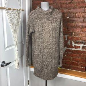 American Eagle Tunic Chunky Brown Sweater S
